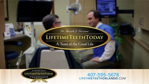lifetime teeth today logo with patient in chair